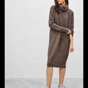 Aritzia Community Poeta turtleneck sweater dress